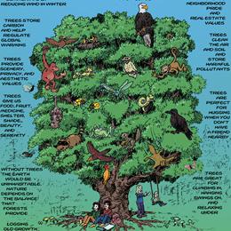 Tree Are Vital Cartoon